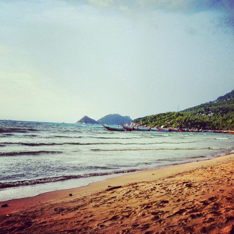 la plage de koh tao en Thaïlande, vue sur la mer