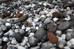 Cailloux sur la plage de Vík i Myrdal, Islande