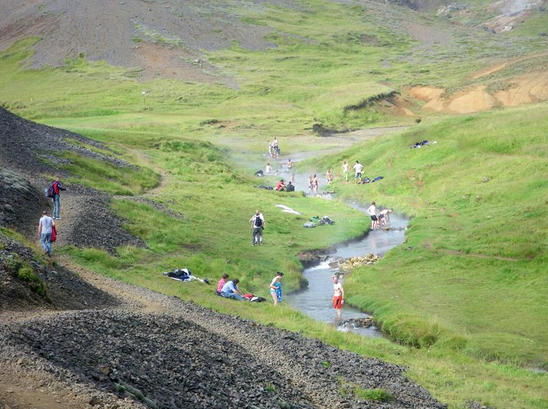 Rivière sources chaudes de Reykjadalur, Islande