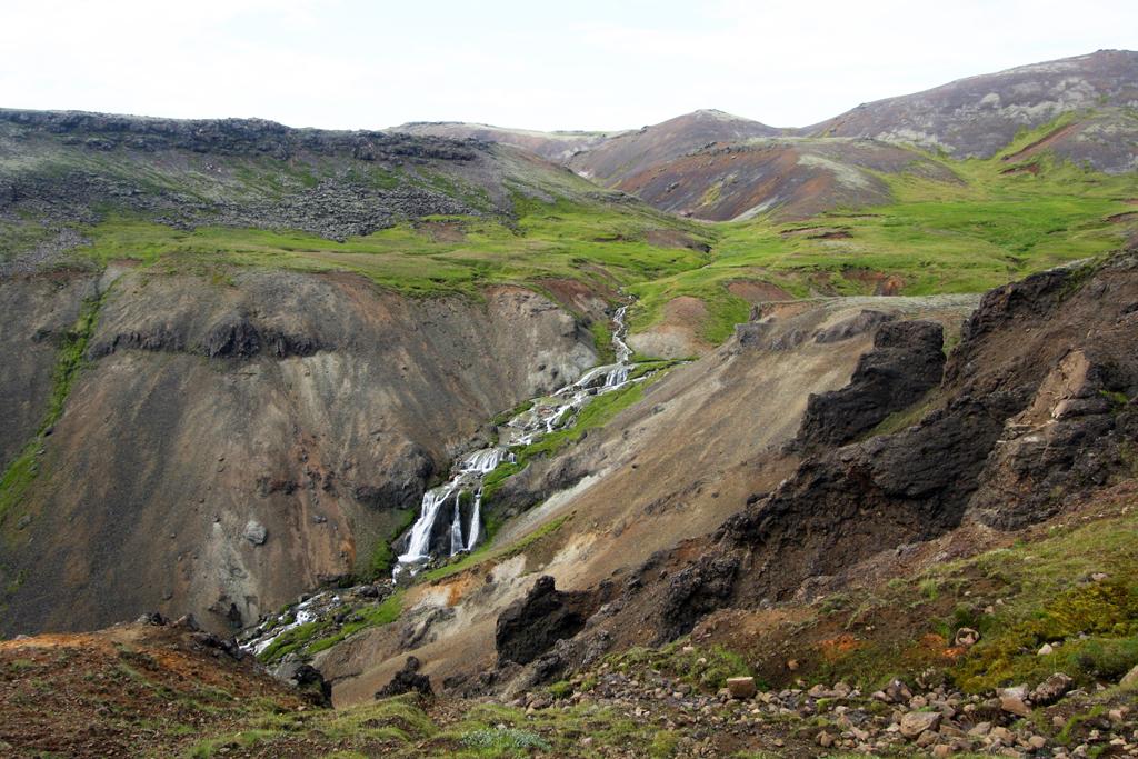 Rivière à Reykjadalur, Islande