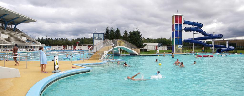 Laugardalslaug, une piscine de Reykjavík (Islande)