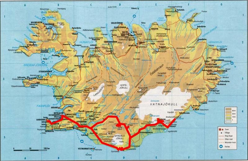 Carte Islande Imprimable
