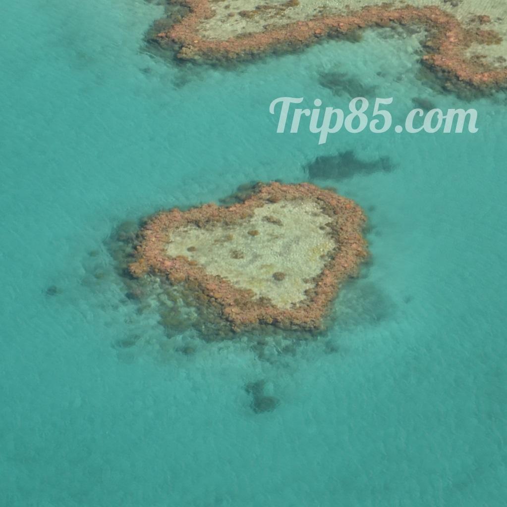 ile en forme de coeur, australie vue du ciel, blog voyage trip 85