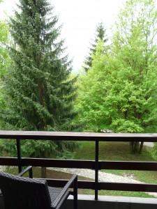 vue depuis le balcon de la chambre de l'hôtel Bellevue