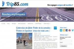 Blog voyage Trace Ta Route sur Trip85.com