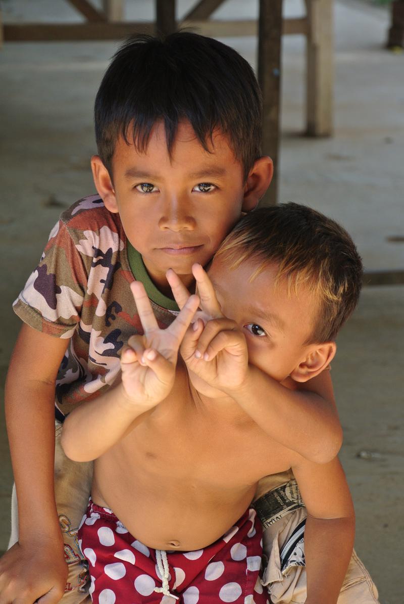 Enfants Khmers, Cambodge