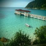 ponton iles perhentians malaisie bateau ocean indien