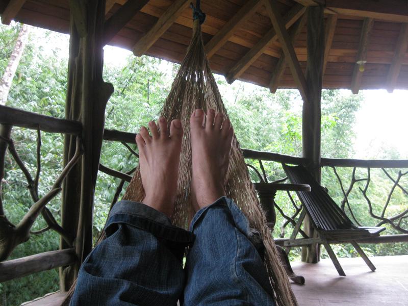 Tristan et son hamac - Amazonie, Equateur