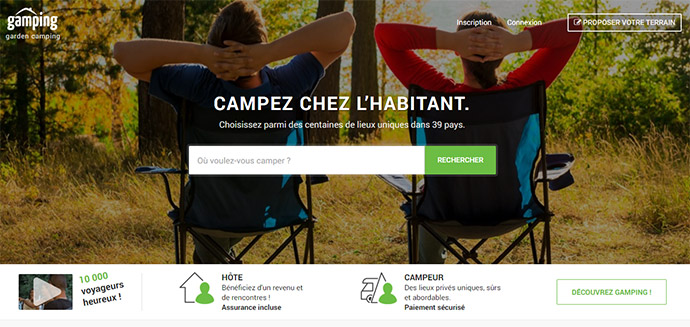 planter sa tente chez l'habitant - Gamping - blog voyage trace ta route