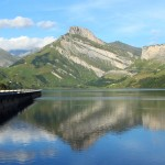 Lac de Roselend et Roc du Vent