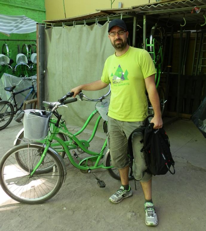 visiter santiago gratuitement bicicleta verde - blog voyage