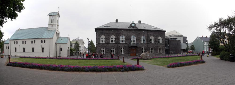 Reykjavík - L'Alþingishúsið (Maison du Parlement) Islande