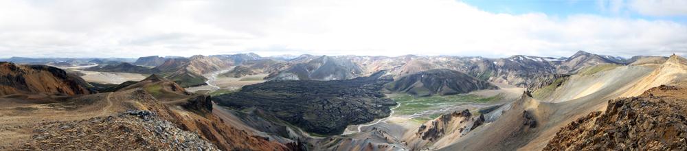 Landmannalaugar, depuis le Suðurnàmur, Islande