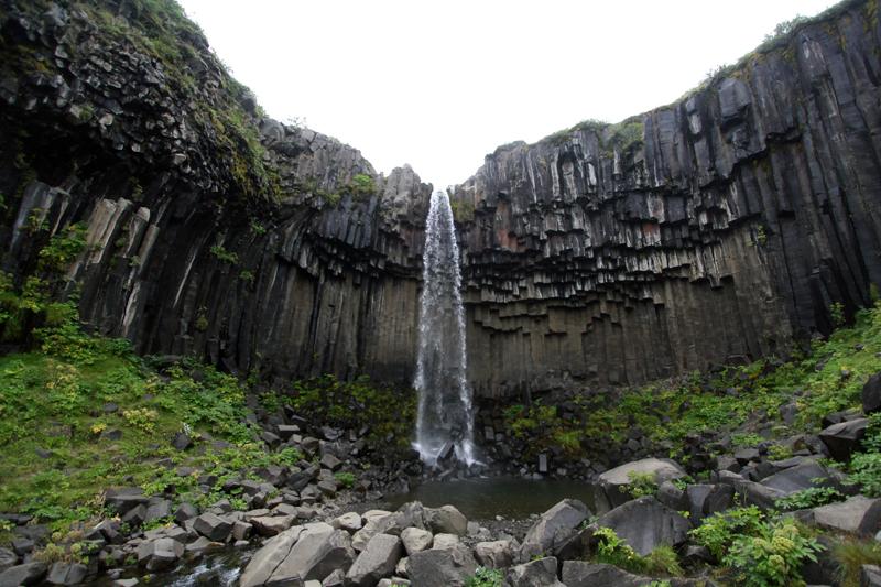 Skaftafell - Svartifoss, Islande
