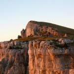 Mont Aiguille. Coucher de soleil sur le bivouac.