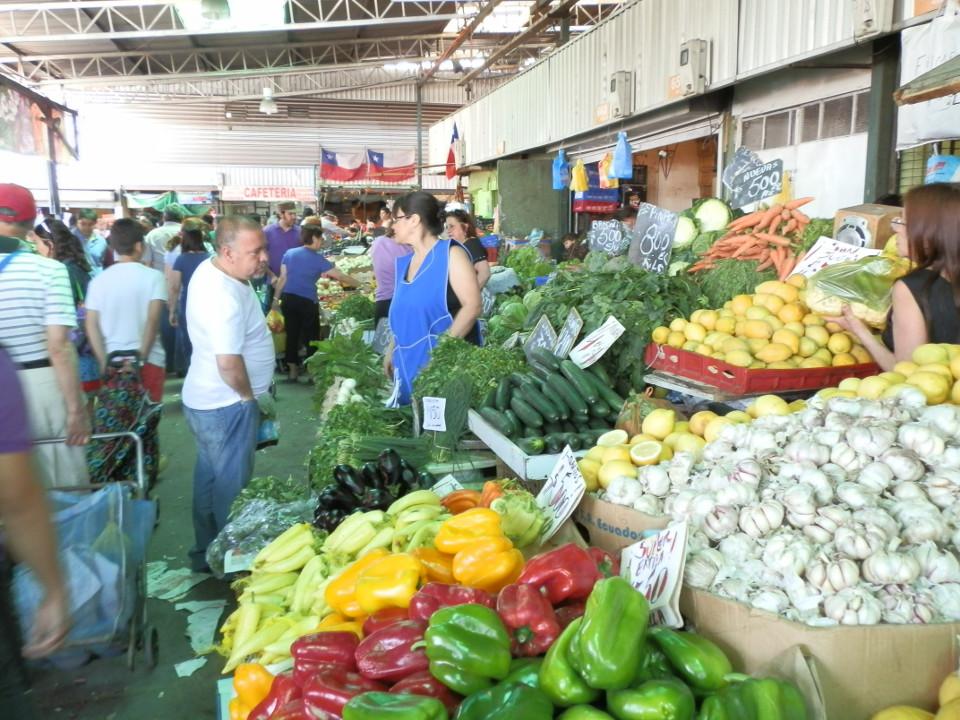 marché la vega santiago - blog voyage trace ta route