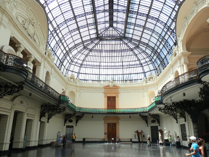 que faire que voir à santiago, le musée des beaux arts - blog voyage trace ta route