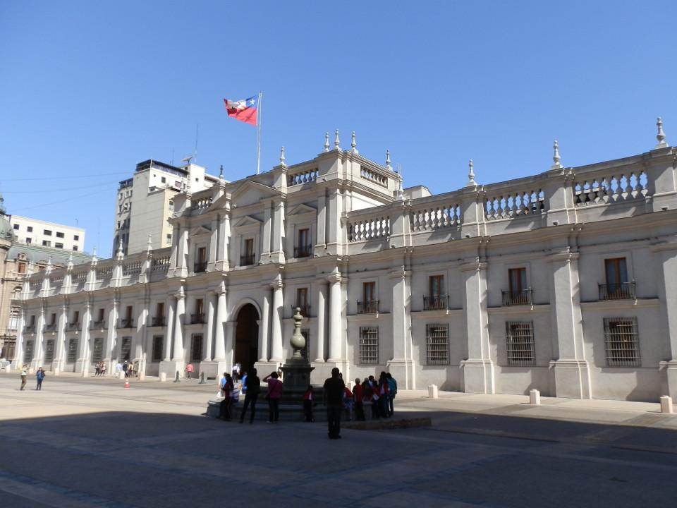 palais de la moneda, santiago - blog voyage trace ta route