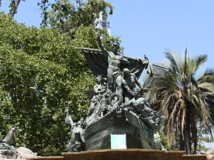 parc forestal santiago chili statue blog voyage trace ta route
