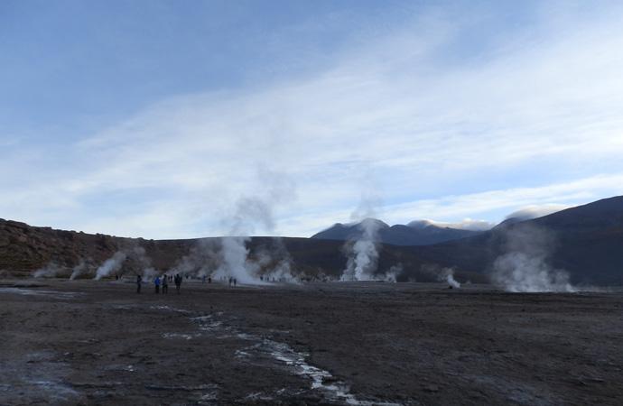 paysage matinal geysers el tatio san pedro de atacama blog voyage trace ta route