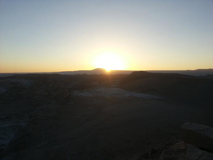 coucher de soleil sur vallée de la mort san pedro de atacama blog voyage