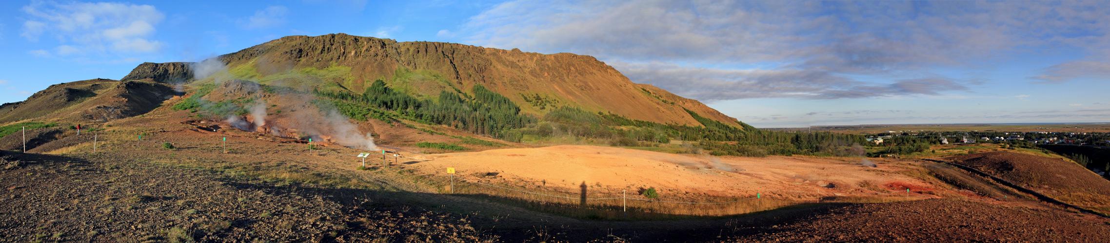 Fumerolles à Hveragerdi (Islande)
