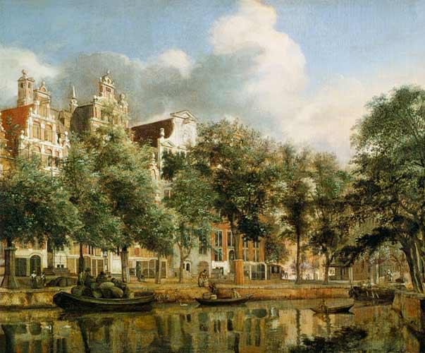 Amsterdam de Jan Van der Heyden - blog voyage Trace Ta Route