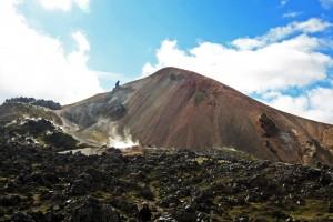 Montagne Brennisteisalda à Landmannalaugar en Islande