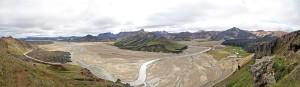 Plaine de Landmannalaugar depuis Sudurnamur, Islande