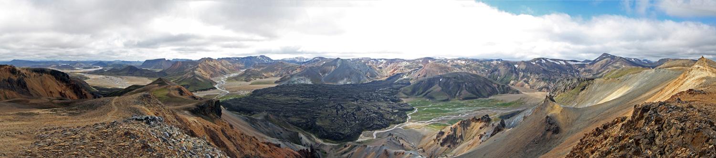 Laugarhraun depuis Sudurnamur (Landmannalaugar - Islande)