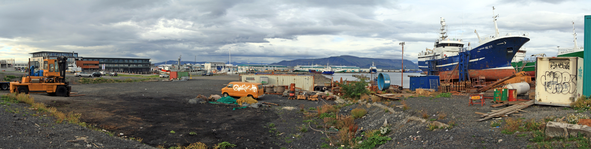 Zone portuaire de Reykjavik (Islande)
