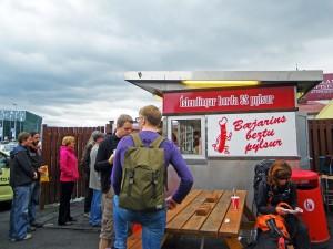 Baraque à Hot Dog Baejarins Beztu Pylsur à Reykjavik, Islande