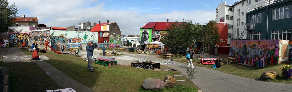 Street Art au Skate Park sur Laugavegur, à Reykjavik (Islande)
