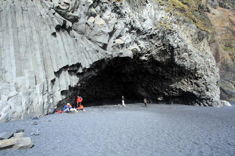 Grotte à Reynisfjara, Dyrholaey, Islande
