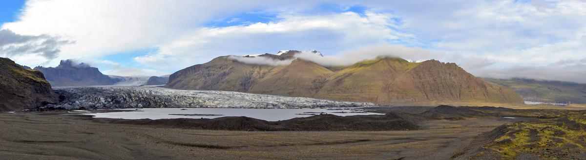 Glacier Skaftafellsjokull (Skaftafell, Islande)