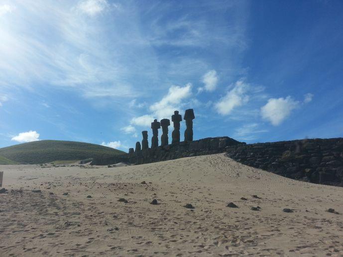 ahu nau nau île de pâques blog voyage