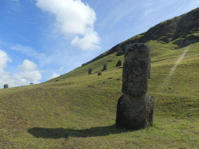 buste rano raraku moaï île de pâques blog voyage trace ta route