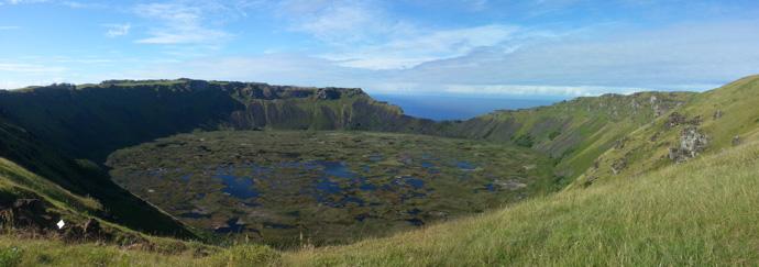 cratère volcan orongo île de pâques blog voyage