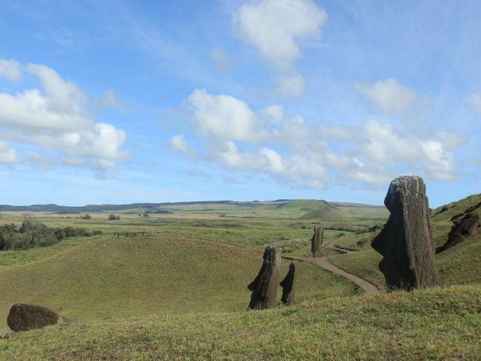 rano raraku île de pâques blog voyage trace ta route