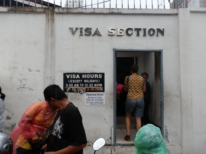 ambassade birmanie à Bangkok visa pour la birmanie - blog voyage trace ta route