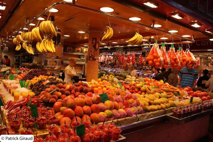 marché de la boqueria, beau marché pour une semaine à barcelone - blog voyage trace ta route
