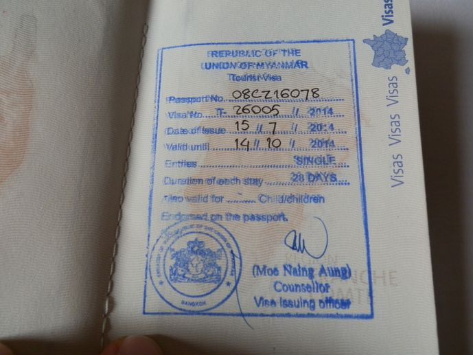 visa pour la birmanie - blog voyage trace ta route