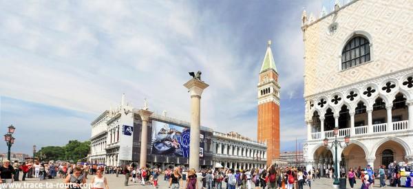 La Piazzetta Saint Marc de Venise avec le Palais des Doges et le Campanile