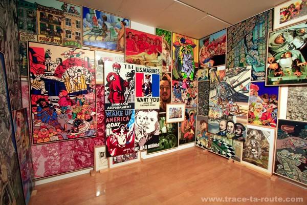 1ère salle de l'exposition rétrospective ERRÓ au MAC LYON