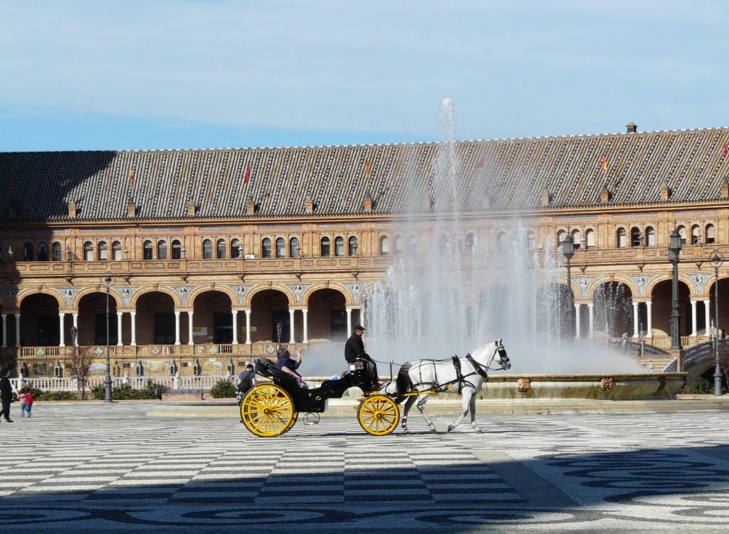 caleche sur la plaza de espana