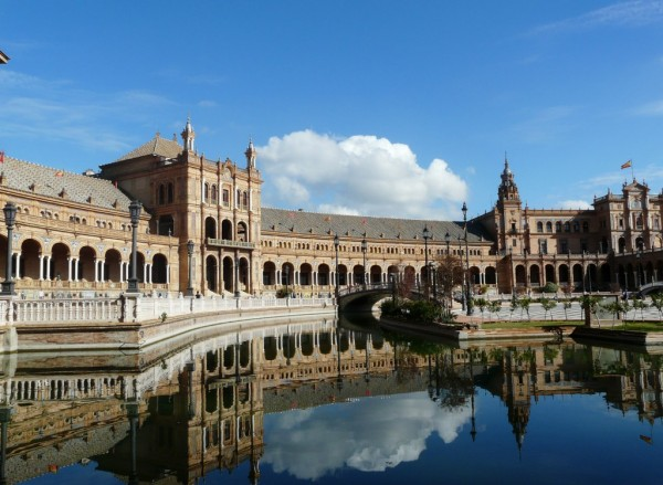 la place d espagne - Seville - andalousie