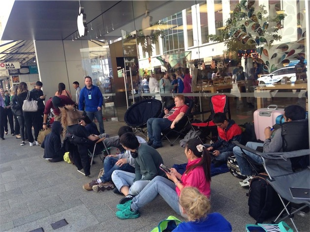 file d'attente pour l'iphone 6
