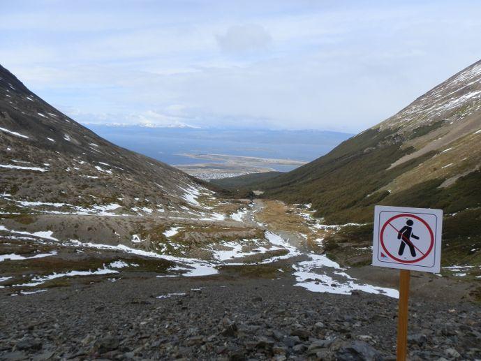panneau randonnée glacier martial - ushuaïa blog voyage