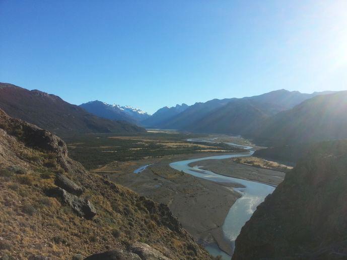 vue vallée fitz roy patagonie
