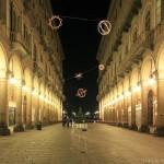 Via Garibaldi à Turin - Giulio PAOLINI - Palomar (1998) Luci d'Artista